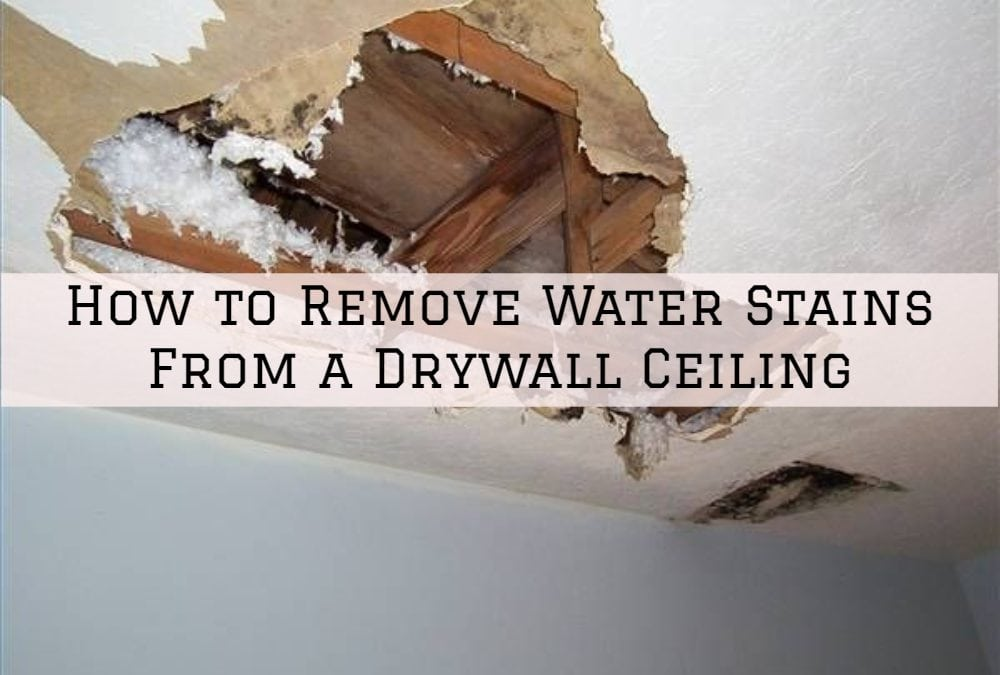 How to Remove Water Stains From a Drywall Ceiling in Sherwood, Oregon
